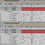 AE Script: Nudge Keyframes to Nearest Exact Frame