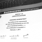Brainmeasures Maya Certification Arrives