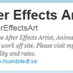 After Effects Artist on Twitter!