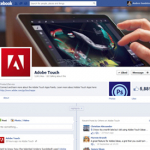 Adobe Touch Features story on their Facebook page and Twitter